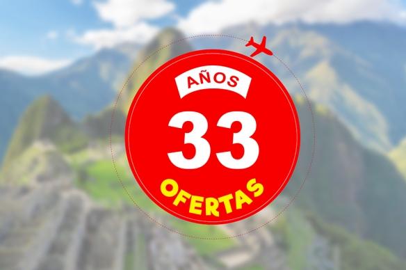 Logo 33 años, 33 ofertas Perú A Travel.jpg