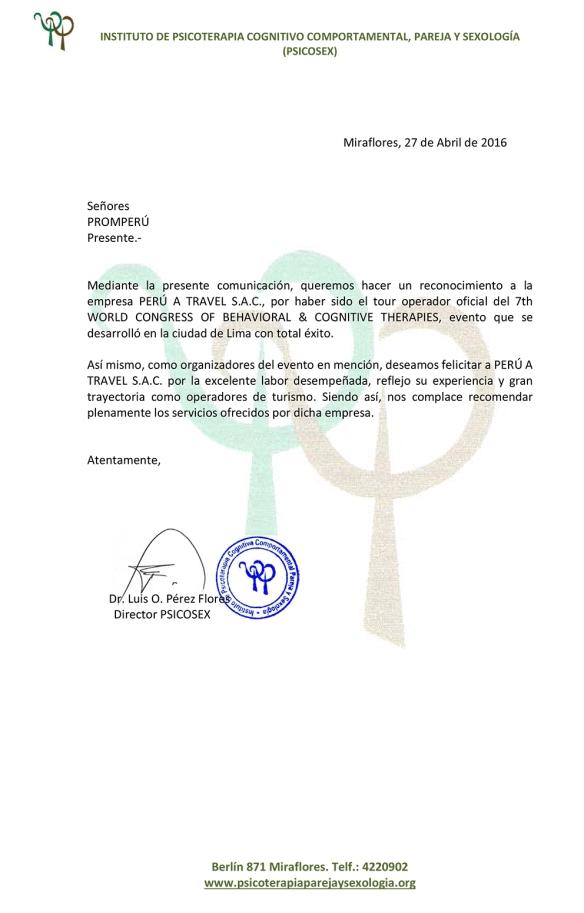 Carta para Peru A Travel